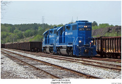 GMTX 2675 & 2618 (Robert W. Thomson) Tags: railroad train diesel tennessee railway trains locomotive trainengine geep copperhill emd gp382 gp38 gatx gmtx fouraxle