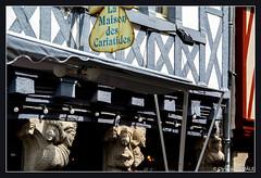 La maison des Cariatides / House of Cariatides - Rue du Guodet - Quimper (christian_lemale) Tags: street sculpture house france nikon brittany bretagne maison rue halftimbered kemper quimper colombages cariatides pansdebois d7100 guodet