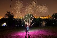 LightArtOVD 2016 (palateth) Tags: lightpainting lightart night fireworks lightartovd oviedo thereisnoplacelikeoviedo silvanamanzana