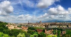Panorama di Firenze (Marco Borin) Tags: firenze panorama piazzale michelangelo vista verde cielo nubi architettura skyline fiume pontevecchio