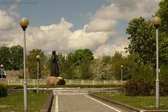 Motherland Belarus (Natali Antonovich) Tags: motherlandbelarus belarus novogrudok navahrudak nature spring sculpture poet landscape sky adammickiewicz