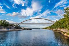 Sky of Svindersviksbron in Stockholm/Nacka (AdamTje) Tags: nacka tamron nikon bridge svindersviken sweden 2016 svindersviksbron tamron1750 blue saltsjn d7100 outdoors stockholm sky lightroom scandinavia stockholmsln se
