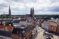 Blick vom Altprtel Speyer (Magdeburg) Tags: speyer deutschland germany pfalz altprtel view from old gate the altpoertel is medieval west city pfarrkirche st joseph pfarrkirchestjoseph stjoseph gedchtniskirche