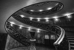 Twin Spin... (JH Images.co.uk) Tags: vatican rome italy stair staircase oval bw blackandwhite architecture