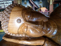 """Sleeping Buddha"" (S_Artur_M) Tags: india indien lumix panasonic reise tz10 travel sarnath uttarpradesh buddhism statue"
