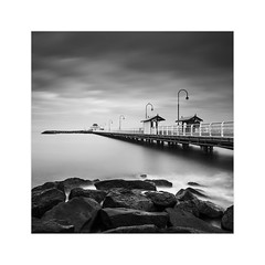* St Kilda Pier * (^soulfly) Tags: holiday family vacation stkilda pier melbourne australia canon5dmark2 ef1740mm bwfilter nd110 blackandwhite element