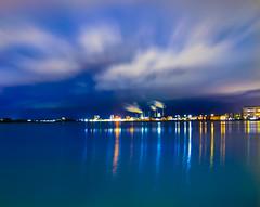AalborgAtNight (ZobairQ) Tags: aalborg danmark havenfront hedegaard long exposure night water sea ocean moving clouds havnefront