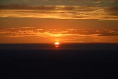 DSC_1731 (JustineChrl) Tags: sunset coucher de soleil auvergne france puydedome volcan montagne nature landscape paysage colors orange red blue sky clouds sun parapente parasailing nikon nikond3200 out