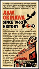 THE STORY OF OKINAWA'S A&W RESTAURANTS -- A HISTORY LESSON PRINTED ON EVERY BAG