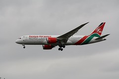 5Y-KZA (IndiaEcho Photography) Tags: 5ykza kenya airways boeing 7878 london heathrow airport airfield egll lhr civil aircraft aeroplane aviation airliner hatton cemetary hounslow 27l arrivals runway misslesex england canon eos 1000d