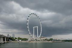 Wheel in those dark clouds (Stinkee Beek) Tags: singaporeflyer