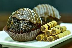Choco Delite (Sanjiban2011) Tags: food foodphotography cake cakes bakery chocolate sweets sweet arrangements indoor tabletop bokeh depthoffield nikon d750 fullframe fx tamron tamron90macro colours