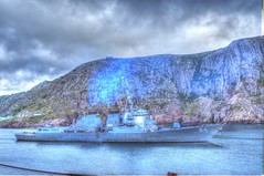 USS Bulkeley going through the Narrows (Ross A Craig) Tags: stjohnsnewfoundland canadian navy united states hmcs fredericton athabaskan signal hill