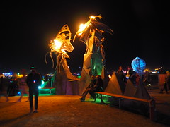 Le Attrata by Therm (michicat) Tags: burningman brc blackrockcity playa nevada burningmanatnight fireart fire