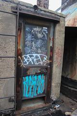 Door (NJphotograffer) Tags: graffiti graff pennsylvania pa philadelphia philly abandoned building urban explore rooftop window door bred tober reach goa add crew edske soar tku sape4 sape 4 2wcrew 2w