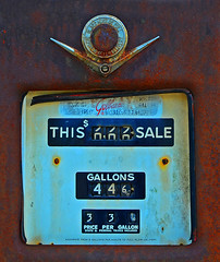 Cheap Gas (davidwilliamreed) Tags: old rusty crusty metal gas tank rust patina decay weathered abandoned neglected forgotten oxidized oxidation buckheadga morgancounty