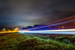 Passing (johanbe) Tags: ligh trails night passing speed sky clouds color highway e45 skepplanda green grass car kvll natt fart bilar longexposure ljus nikon tokina tokina1116 photooftheday