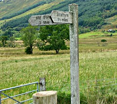 highland hike (MauraClev) Tags: strathyre scotland trossachs hike footpath sign
