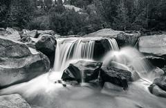 Roaring Fork River, The Grottos, Colorado, 2016 (Mark Messersmith) Tags: roaringforkriver flowingwater river nature water colorado blackwhite thegrottos rockymountains boulders landscape aspen unitedstates us