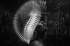 Lumi Couture.  273-366. (FadeToBlackLP) Tags: lightpainting lightart strobist portrait mono monochrome lumi lightblades blackandwhite fadetoblacklightart longexposure longexposurephotography profile taken lp lpuk lpwalliance man headshot