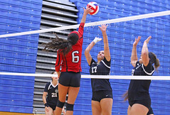 IMG_3055 (SJH Foto) Tags: girls volleyball high school mount olive mt team tween teen teenager varsity net battle spike block action shot jump midair