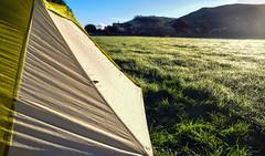 Round Wales Walk 49 - A Wet Start! (Nikki & Tom) Tags: wales uk walescoastpath roundwaleswalk gwynedd tent campsite dew