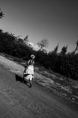 Where no woman has gone before (jhderojas) Tags: woman black kenia white blackandwhite