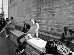 . (alb.montagna) Tags: street streetportrait people portrait streetphotography olympus zuiko blackandwhite monochrome shadow sun italy italia