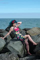 Kitty - DSC_0016 (John Hickey - fotosbyjohnh) Tags: 2016 bray modelshoot september2016 female femalemodel woman lady outdoor portrait beach seaside rocks nikon nikond5100