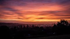 Reading Sunrise (jameslf) Tags: autumn berkshire city hill reading skyline sunrise tilehurst england unitedkingdom mcilroy park