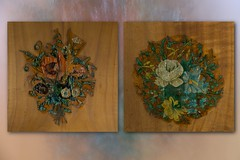 Abziehbilder aus dem 19. Jh. (blasjaz) Tags: blasjaz schrank kleiderschrank birnbaumholz abziehbild propolislsung 19jh