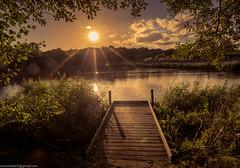 Bracknell Mill Pond (SimonBaker5) Tags: water evening urbanparks bracknellmillpond lake sunset jetty bracknell