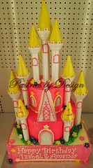 P1018888 (Pastries by Design) Tags: castle cake carved princess shaped towers tiered