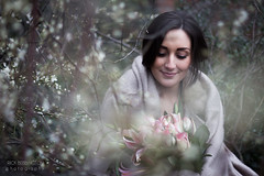 7/52 - Woodland Bride (Rick Bebbington) Tags: flowers winter wedding blur canon garden manchester 50mm bride bokeh f14 fantasy ambient bouquet 60d