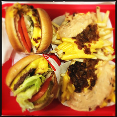 Animal Style (Jeremy Brooks) Tags: california food usa burger fastfood frenchfries hamburgers fries burgers hamburger innout iphone pinole contracostacounty hipstamatic