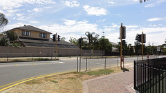 Jetty St, Grange (RS 1990) Tags: street old yellow lights crossing traffic eagle pedestrian signals faded lanterns adelaide weathered aged february posts southaustralia grange primaryschool 2013 jettyst