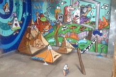 """Just Getting Started"" (chris haven) Tags: art graffiti 3d am mural graf denver tetrahedron kd btr nspire chrishaven pyramidgang uploaded:by=flickrmobile flickriosapp:filter=nofilter"