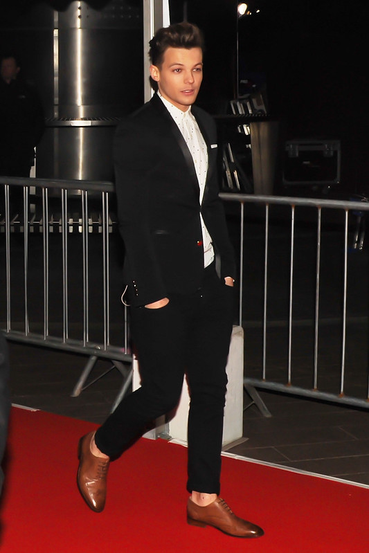 One Direction arrives at the 2013 Brit Awards (Brits) held at the O2 arena - Outside Arrivals Featuring: Louis Tomlinson - WENN.com