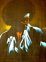 Soul Brother Afro Black Velvet Painting (Lynn Friedman) Tags: art vintage painting brother afro retro soul africanamerican blackvelvet velvetpainting lynnfriedman