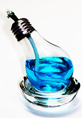928-03 (Joe-Lynn Design) Tags: blue white glass lightbulb photomanipulation oillamp