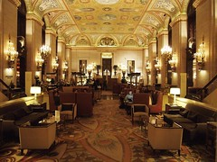 Your credit is fine, Mr. Torrance. (rwchicago) Tags: chicago hotel downtown loop patterns lobby chandelier ornate palmerhouse holabirdroche