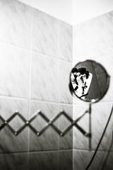 Mirror (peterkend) Tags: bw 35mm bathroom mirror rangefinder shaving manualfocus 35mm14 leicam8