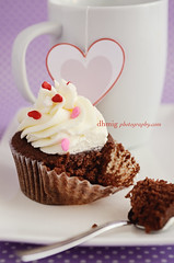 Sweeten life (dhmig) Tags: pink red white love dessert soft heart sweet chocolate softness cream spoon cupcake mug bite valentines swirl piece temptation indulgence valentinesday frosting gluttony heartshape pieceofcake teaspoon redvelvet whitefrosting cheesefrosting