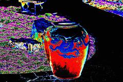 Chinese Vase (psychedelic world) Tags: art dragon chinese vase chinesegarden psychedelic mannheim drachen luisenpark chinesischergarten psychedelicworld