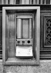 Night Depository (PAJ880) Tags: ri bw abandoned st night main bank woonsocket depository