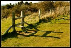 shadowside (Ian's Art....) Tags: sunshine rural fence downs saturated shadows outdoor colourful iansart d60vr1855 lexar8gb