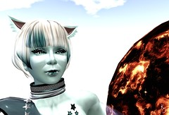 Spacey Kadet Kitty 1 (Kylie Quinn) Tags: space kitty secondlife planets zerogravity virtualworld