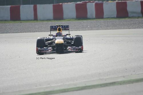 Mark Webber's Red Bull in Formula One Winter Testing 201