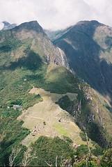Huayna Picchu View (Worthing Wanderer) Tags: 2003 winter mountains peru southamerica inca cuzco walk trail andes intrepid machupicchu sacredvalley incatrail urubamba