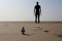 Antony Gormley ([inFocus]) Tags: sculpture beach silhouette liverpool toy toys actionfigure starwars sand place lego action plastic stormtrooper minifig antony northeast gormley minifigures antonygormleysanotherplace